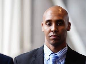 Former Minneapolis police officer Mohamed Noor leaves.