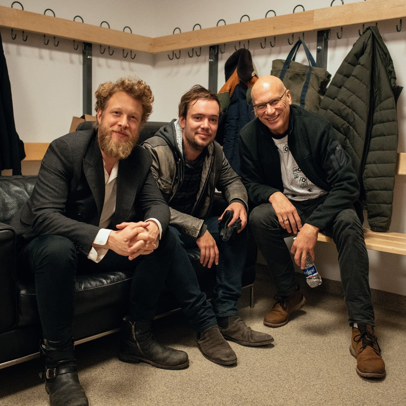 Meeting with Ted Dwane and Ben Lovett of Mumford & Sons in Iceland