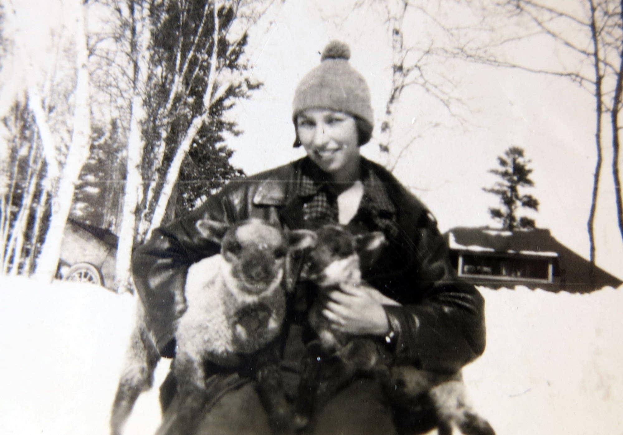 Elsye McGuire enjoyed raising goats on her family's homestead.