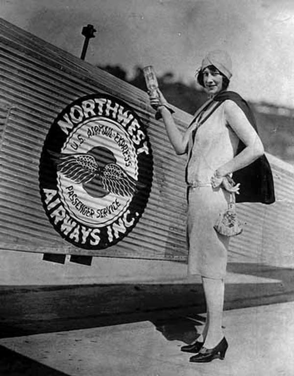 Christening of a Northwest Airlines plane, 1926.