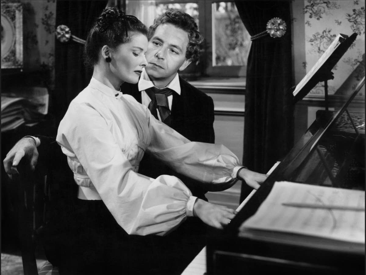Katharine Hepburn and Paul Henreid in 'Song of Love'