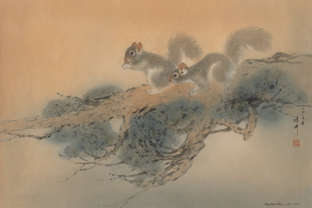 Squirrels 1985 by Cheng-Khee Chee