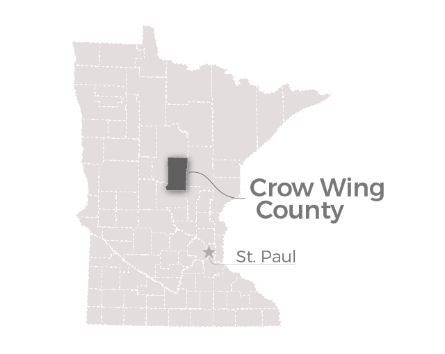 Map: Crow Wing County