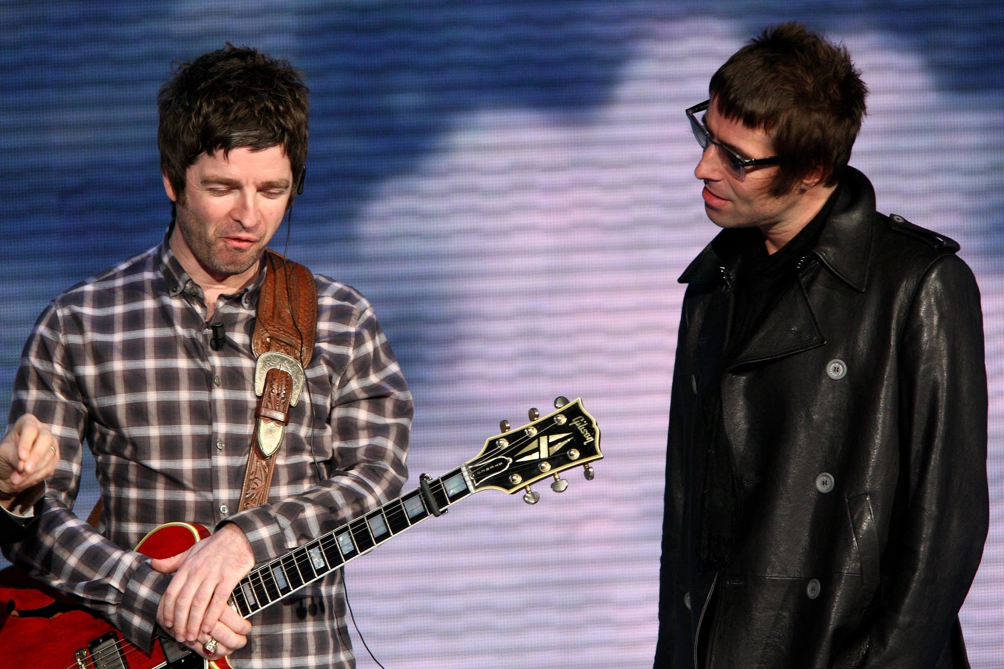 Noel Gallagher and Liam Gallagher in 2008.
