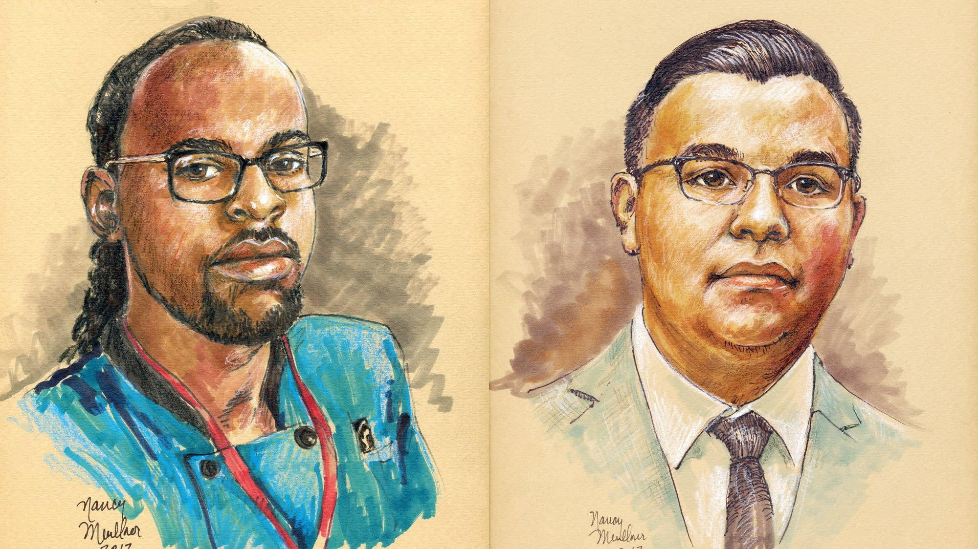Philando Castile (left) and Jeronimo Yanez