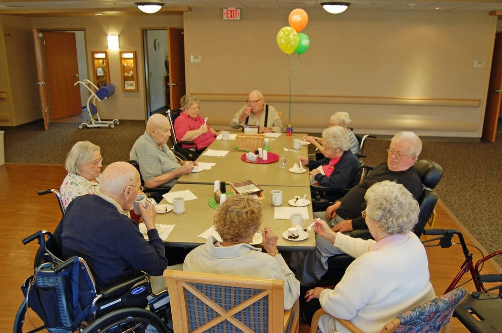 A nursing home birthday