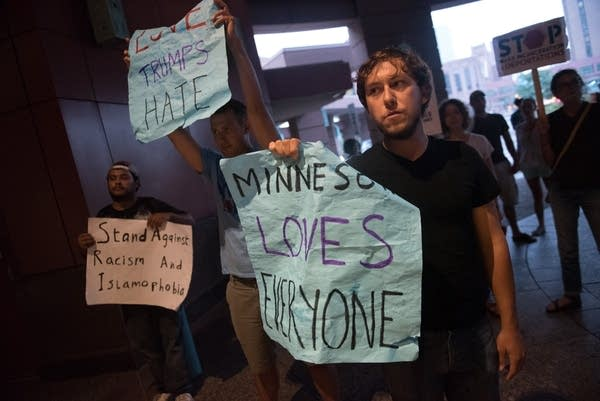 Anti- Donald Trump protest in Minneapolis