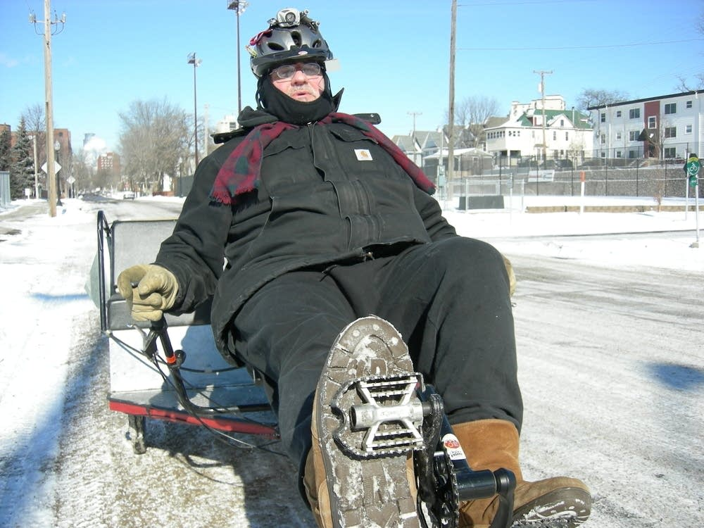 Gary Hoover has pedal power!