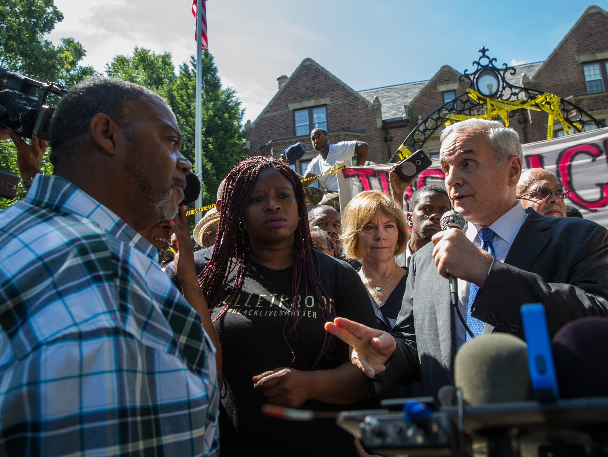 Gov. Mark Dayton and Clarence Castile
