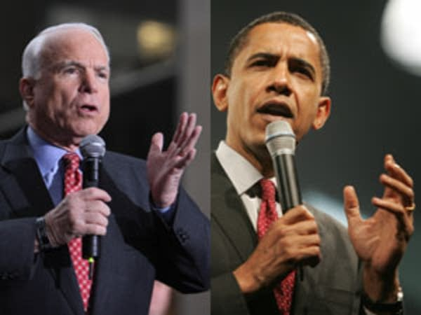 John McCain and Barack Obama