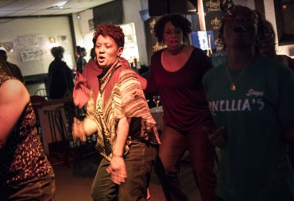 Rita Cunningham has come to dance at Arnellia's in St. Paul for 20 years.