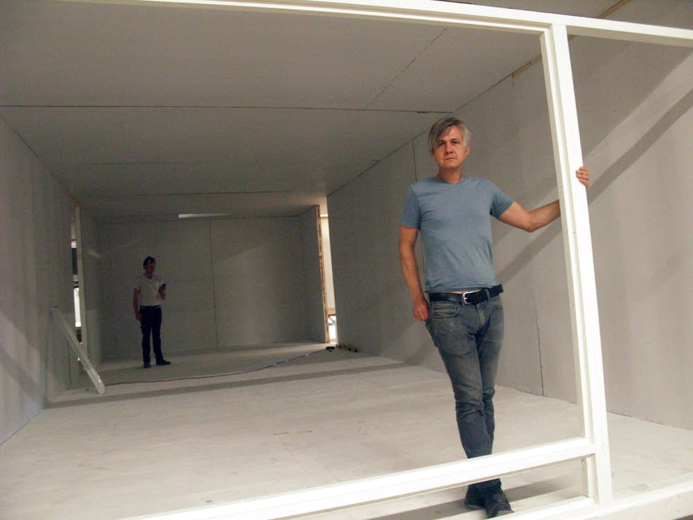 Larson in his replica house