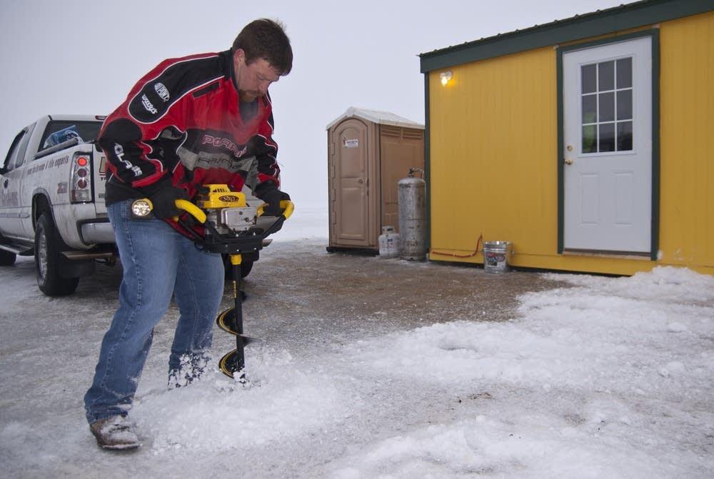 Drilling ice