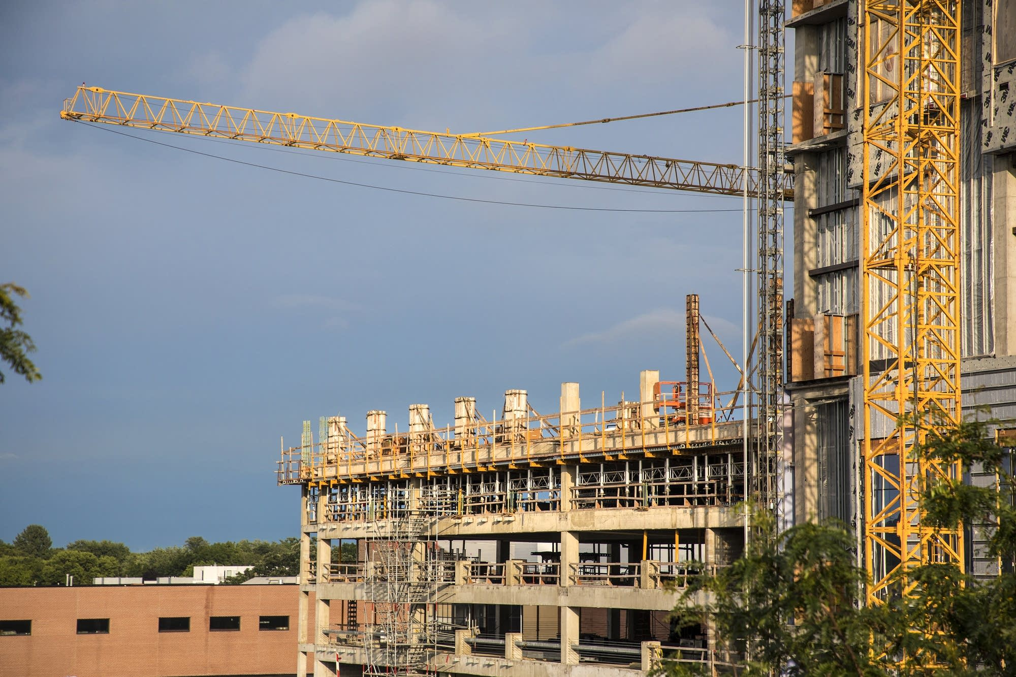 Rochester development hits its stride mpr news cranes dominate the skyline in rochester malvernweather Images