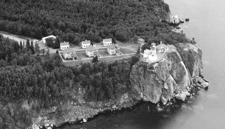 Aerial view of Split Rock Lighthouse