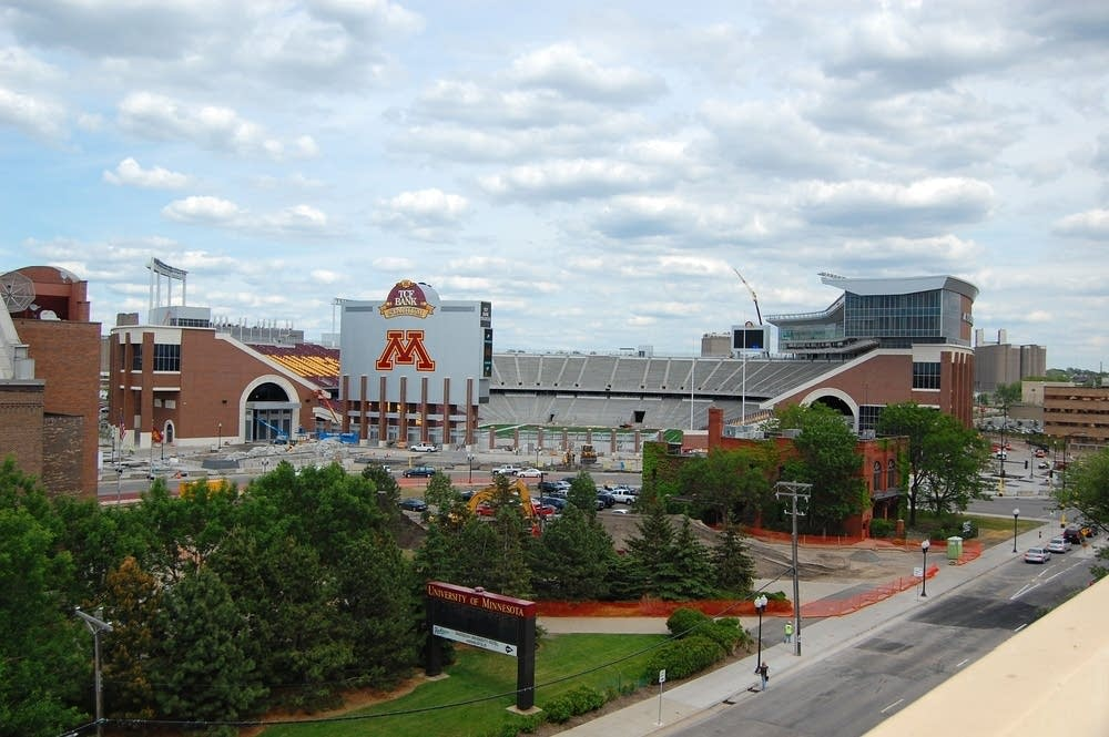 TCF Stadium in June