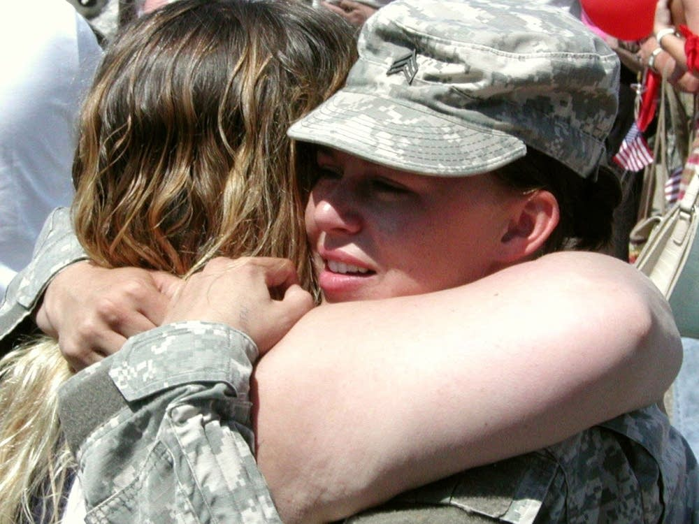 A hug from mom