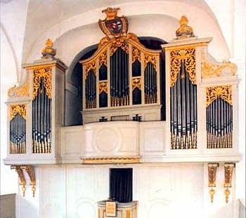 1731 Herbst organ at the Schlosskirche, Lahm/Itzgrund, Germany