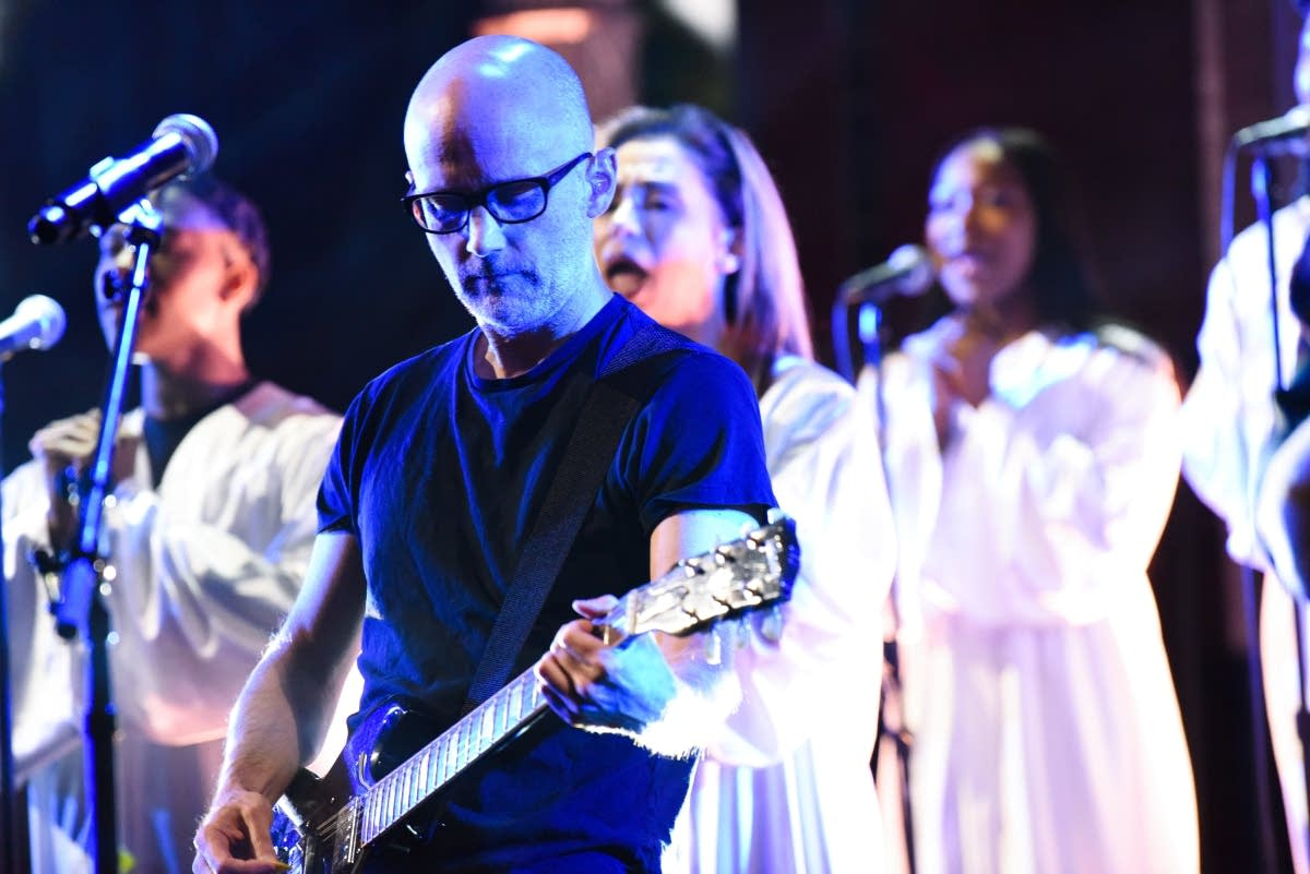 Moby performs on 'The Late Show with Stephen Colbert'