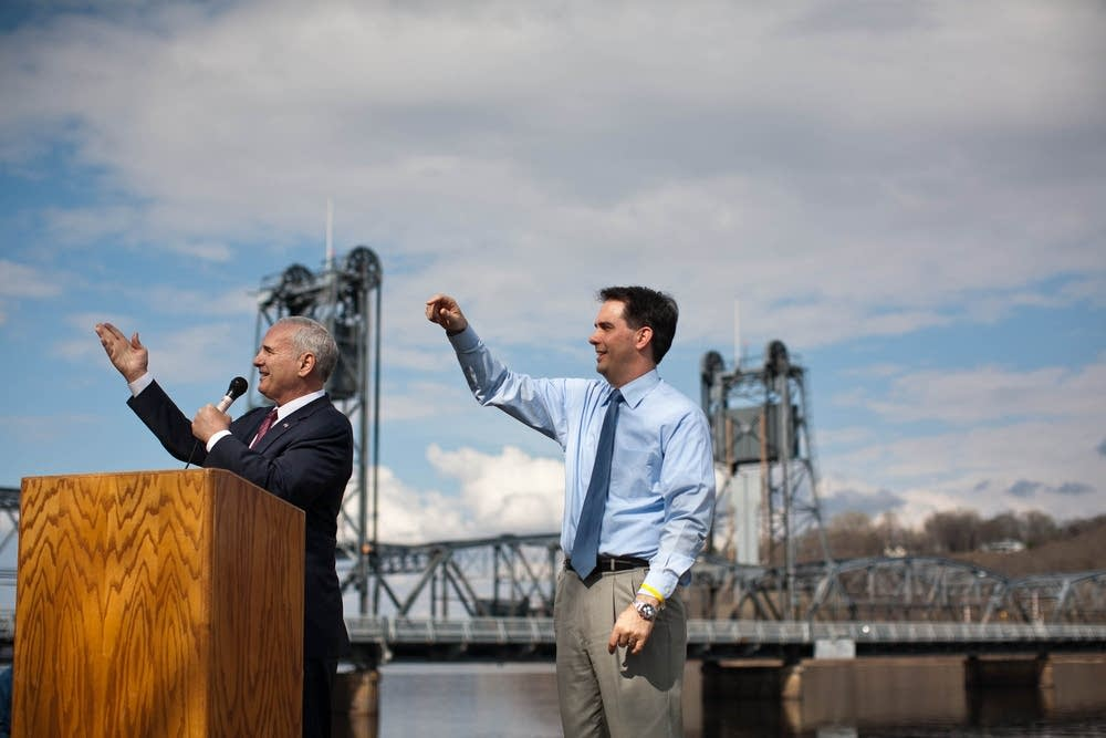 St. Croix River bridge press conference with gover