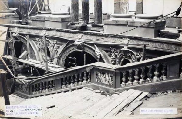 Stairway construction at the Capitol, May 1904