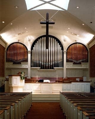 1996 Buzard organ at Glenview Community Church, Glenview, IL