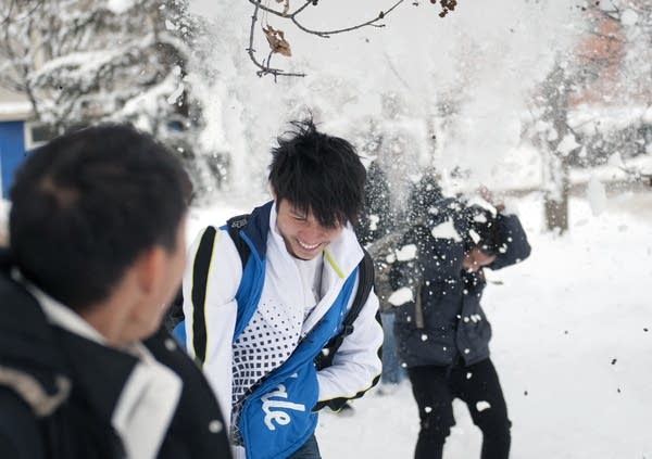 Kyaw Kyaw Lwin has gotten used to snow