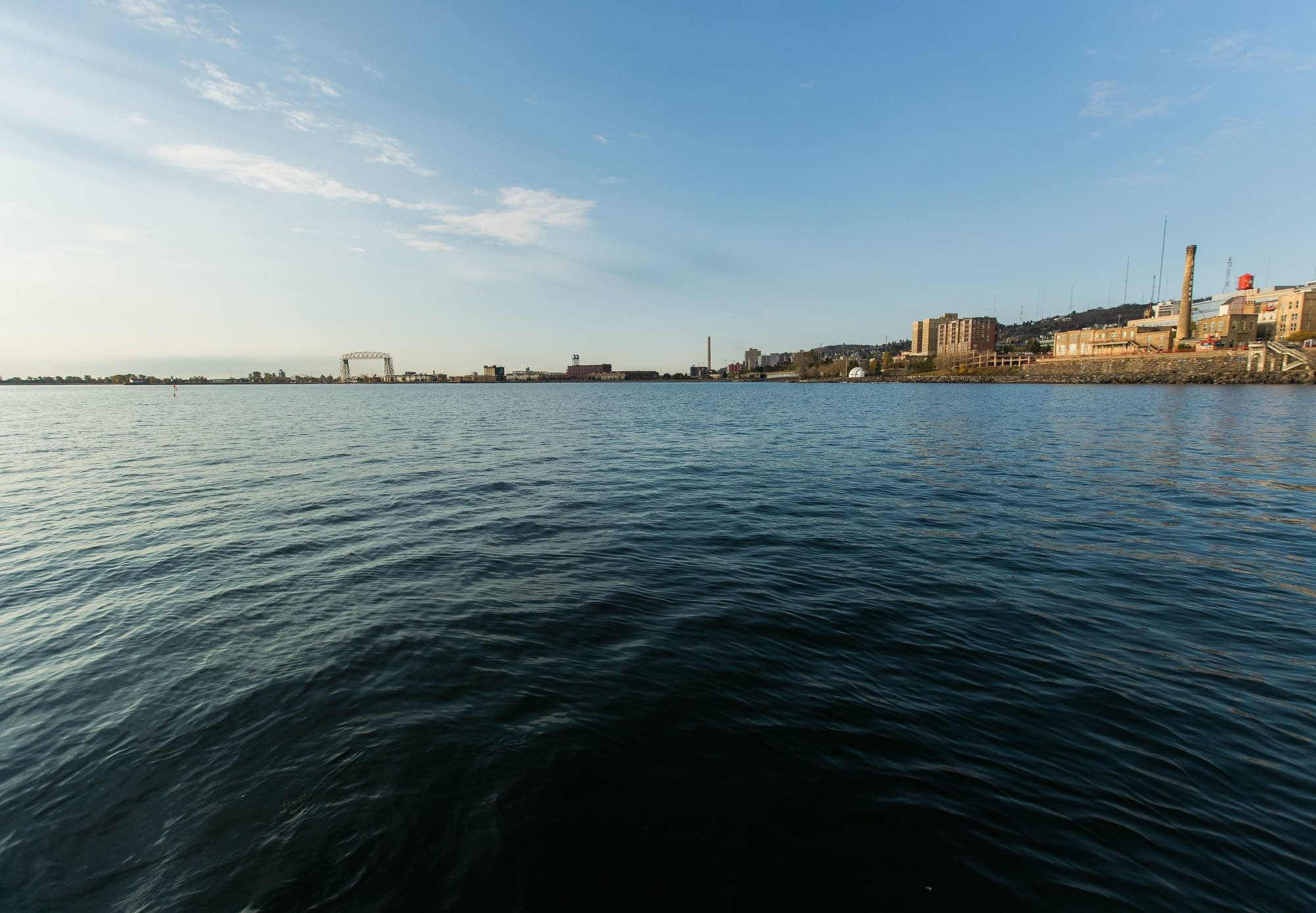 Duluth is seen behind Lake Superior last fall.