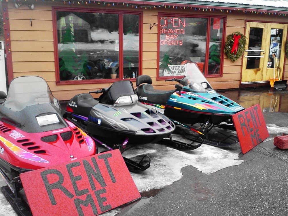 Rental snowmobiles