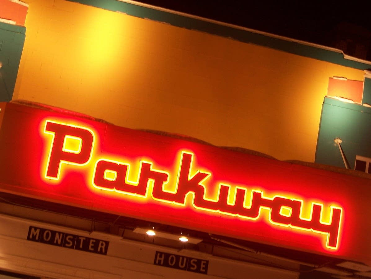 Parkway Theater marquee in 2008.