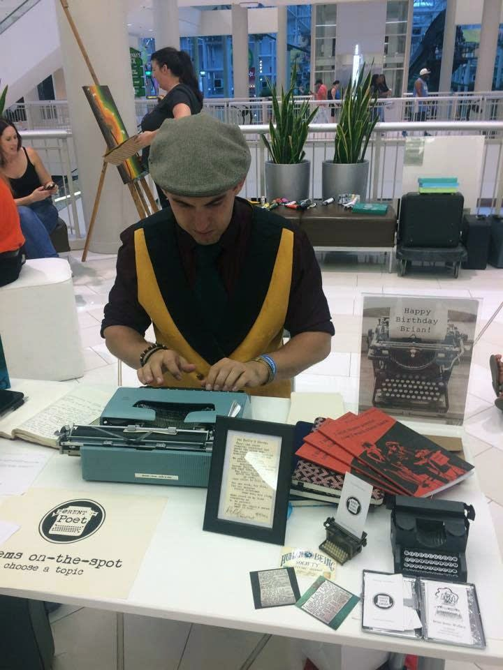 Brian Sonia-Wallace at work at the Mall of America.