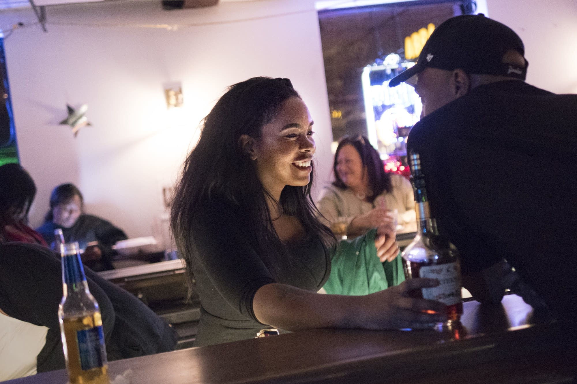 Kaylee Allen bartends at her grandmother's business, Arnellia's.