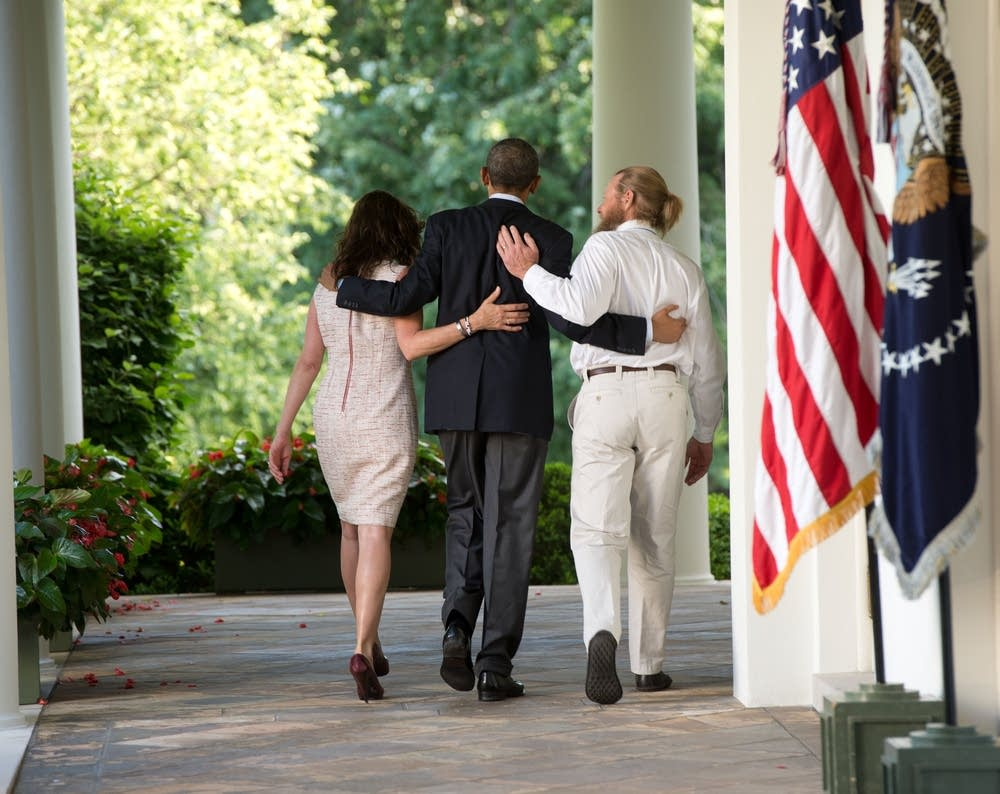 Obama with Bergdahl's parents