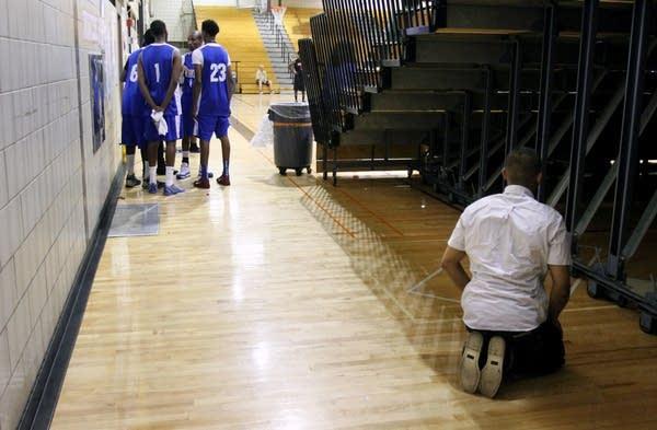 Praying during a game
