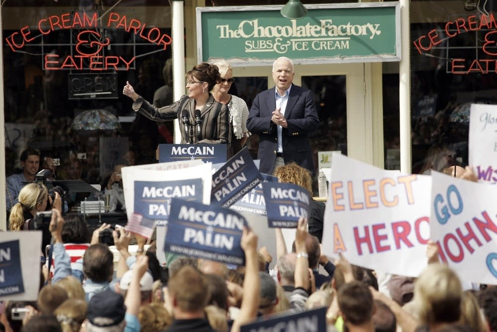 McCain and Palin in Wisconsin