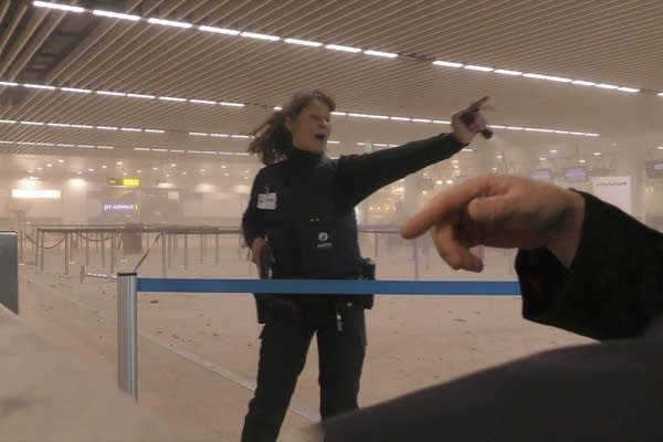 Directing passengers in an airport terminal