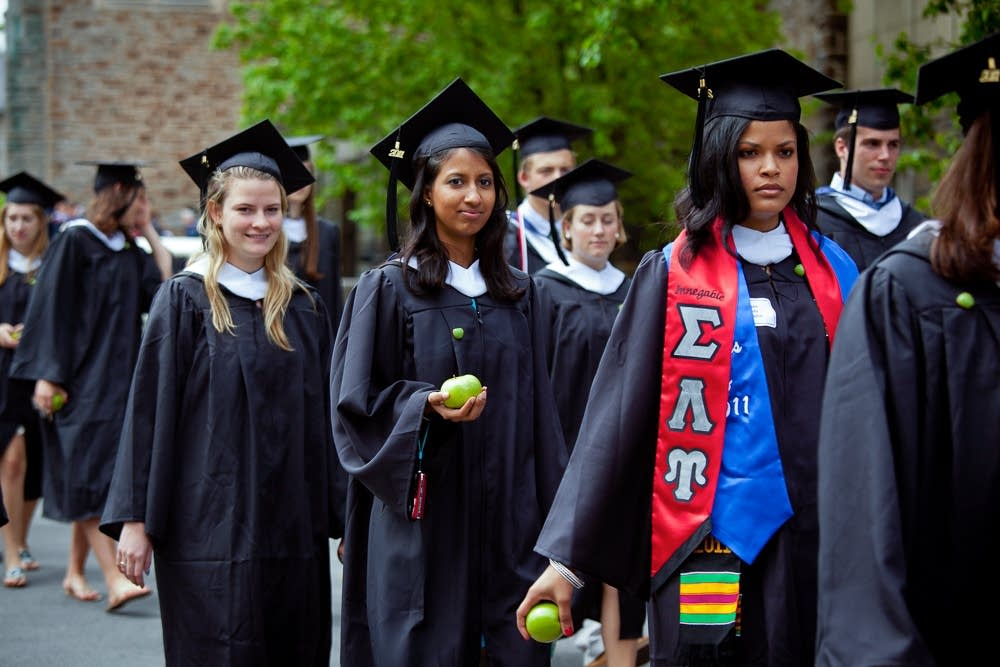Saplings and gowns: Quirky graduation traditions | MPR News