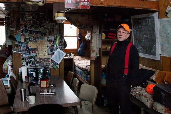 Tom Wrasse is alone at his hunting shack.