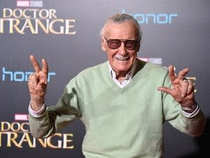Stan Lee attends the premiere of Doctor Strange