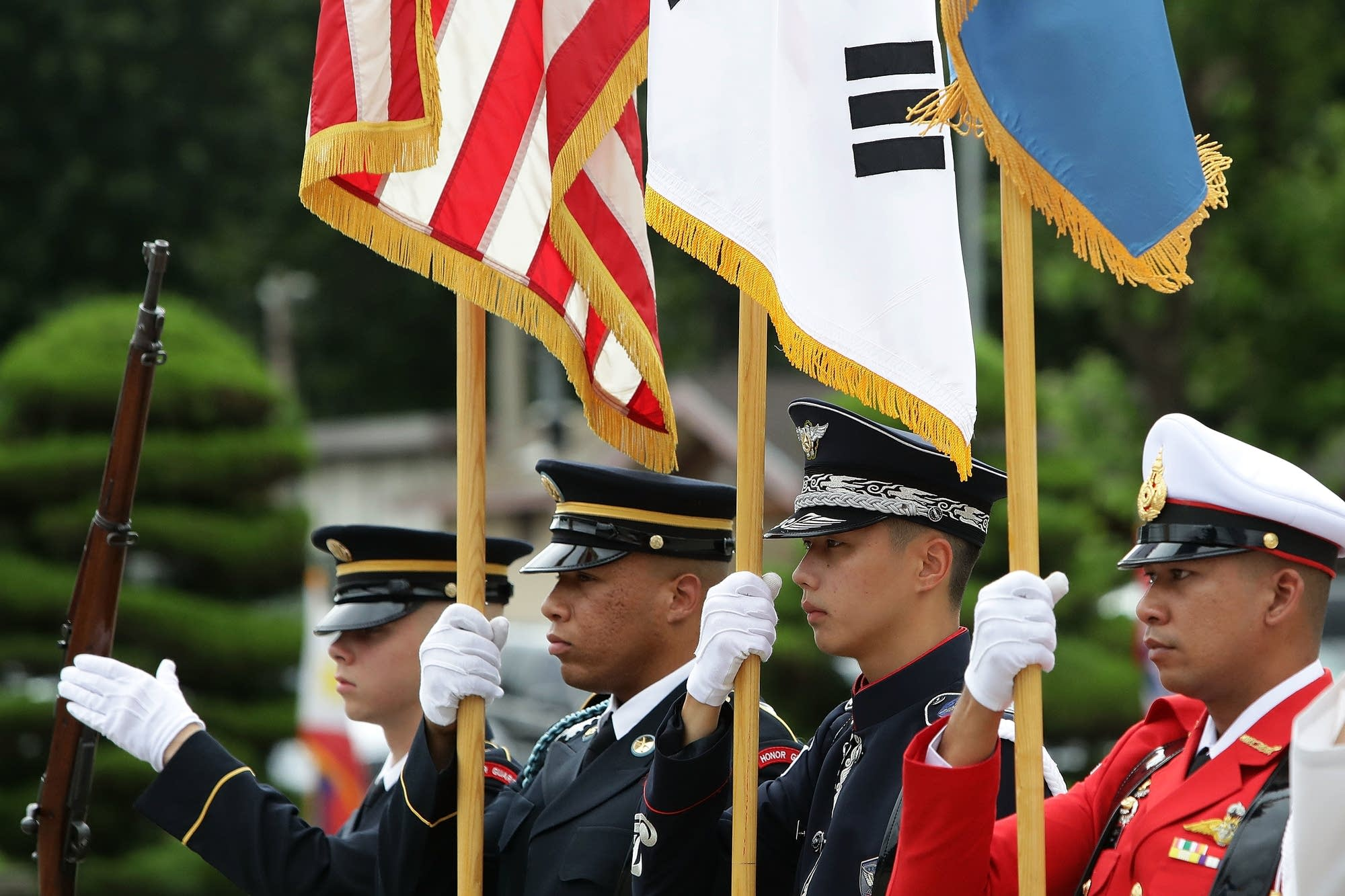Change-of-command ceremony in South Korea.