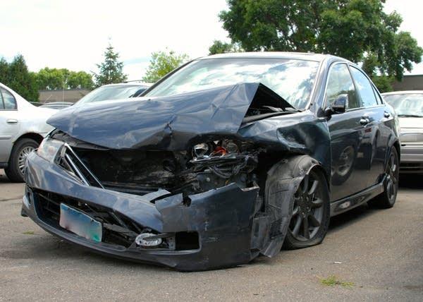 Kelsey Dyals damaged car