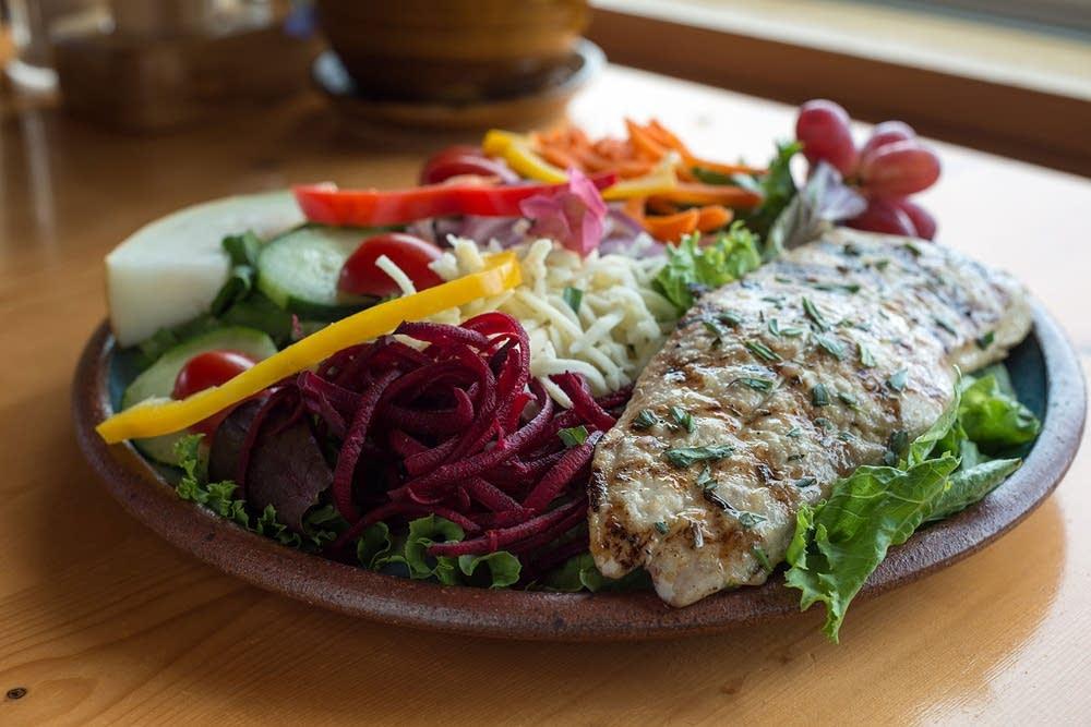 Fresh fish salad