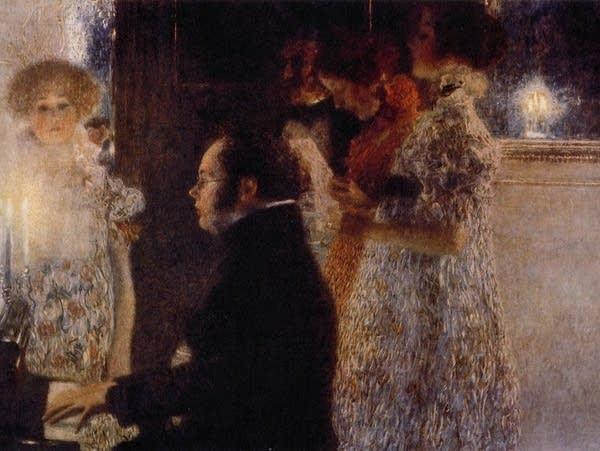 Schubert at the Piano, by Gustav Klimt