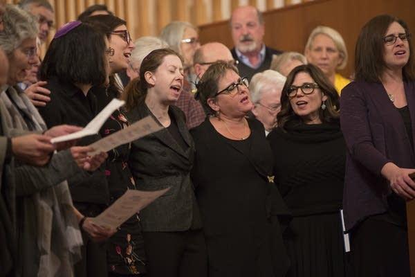 Mt. Zion Temple held an interfaith vigil Monday.