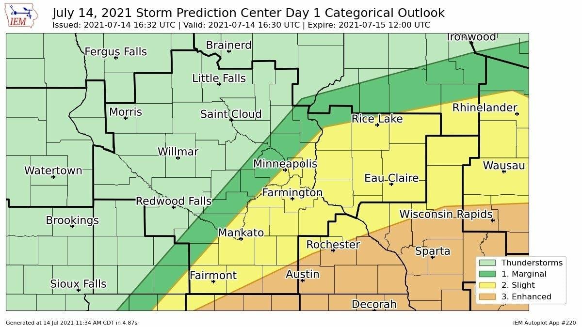 Rain and thunder: Highest severe risk across southern ...