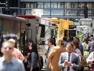 Food trucks in downtown Minneapolis