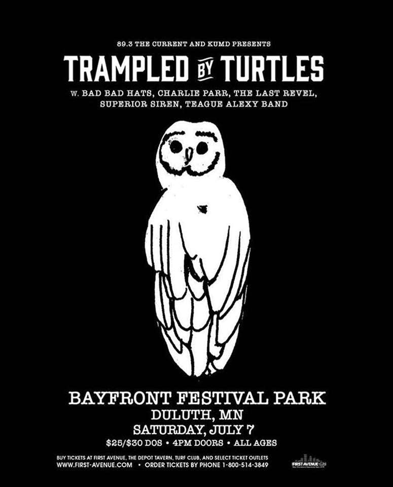 trampled by turtles bayfront 2018