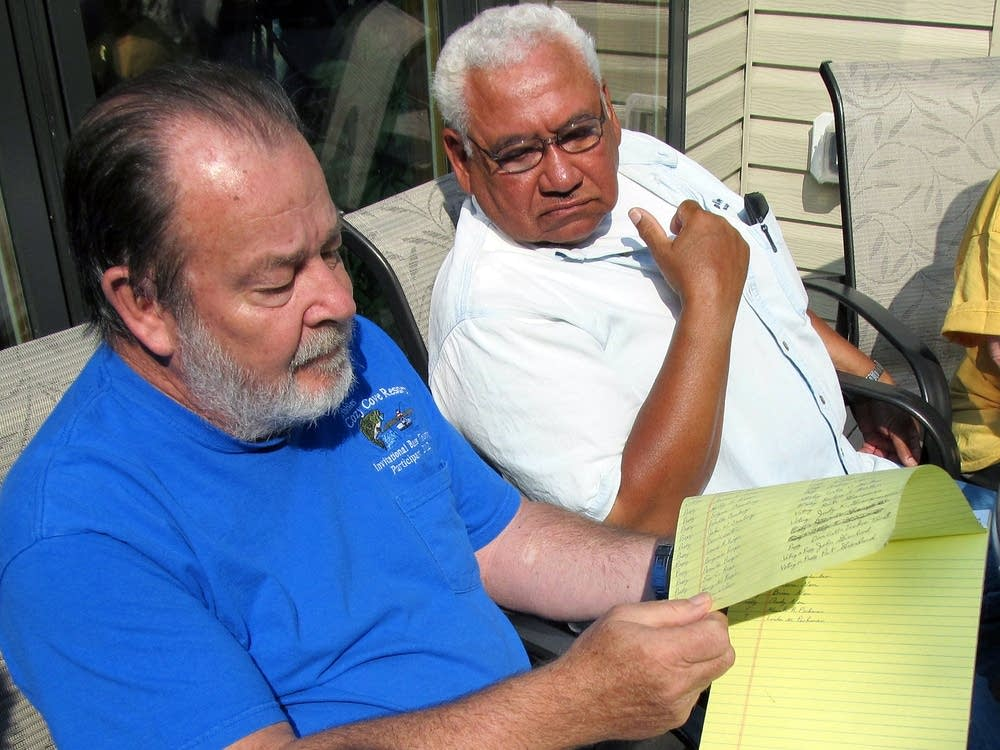 Marion Lake neighbors Steve Gribble and Tom Davis