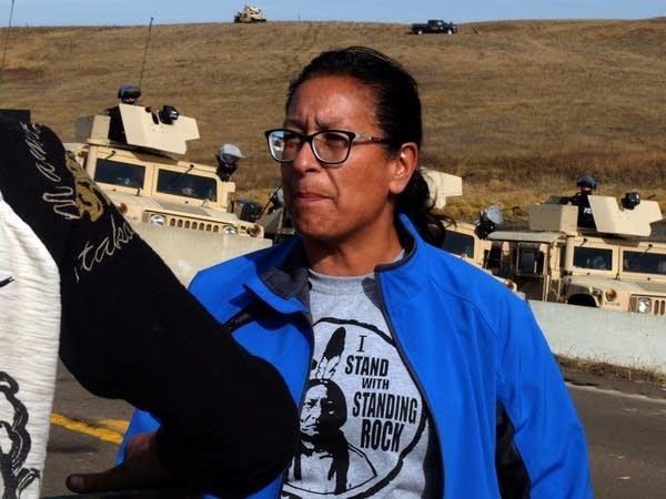 Standing Rock resident Bernadette Dauenhauer