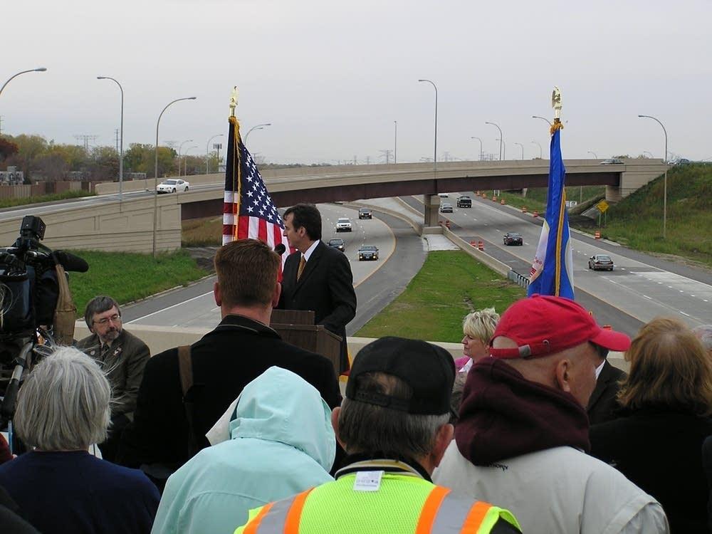 Pawlenty reopens highway